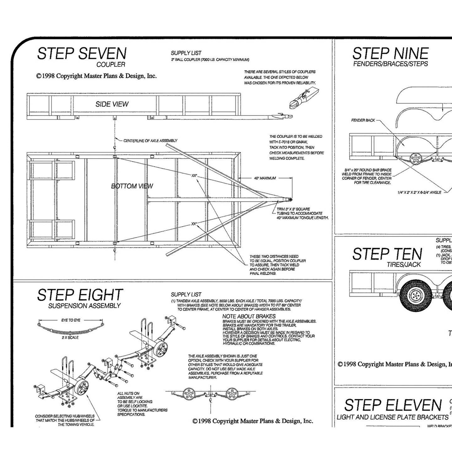 be95652f2b71515b4b708f583658a014 image result for tandem axle utility trailer plans chassis tandem axle utility trailer wiring diagram at soozxer.org
