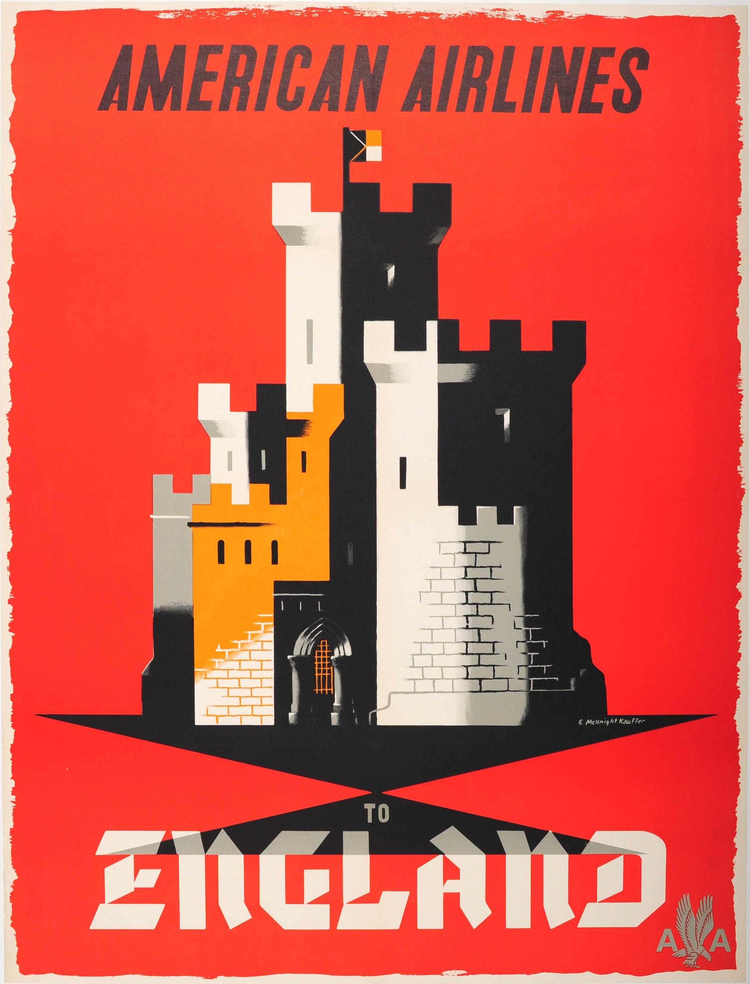 Tokyo Air India vintage air travel promo poster repro 16x24