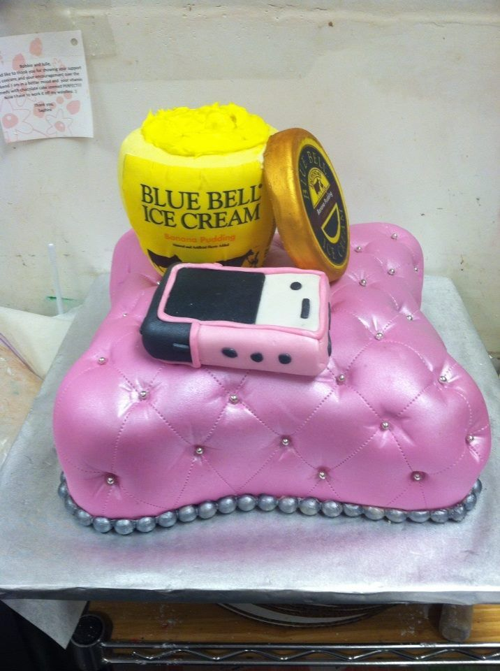 Blue Bell Ice Cream Cake Cell Phone Almond Cakes