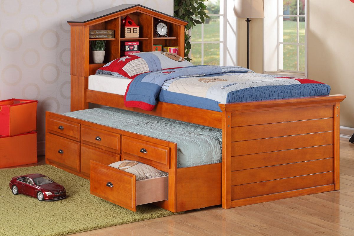 icon of toddler twin beds for kids room - Solid Wood Twin Bed Frame