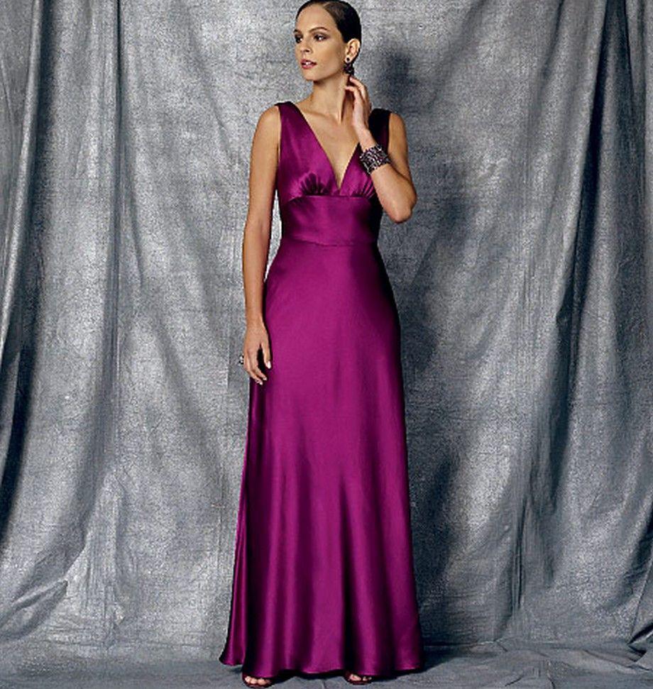 Vogue 1474 floor length party dress | patrones de vestidos ...