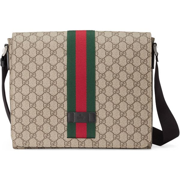 e72bc7892ae Gucci Gg Supreme Messenger ( 780) ❤ liked on Polyvore featuring men s  fashion