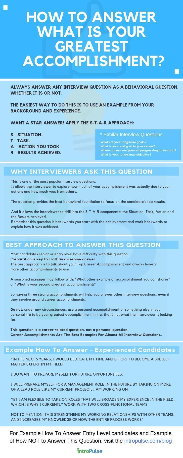 Infographic How To Answer job interview question — What