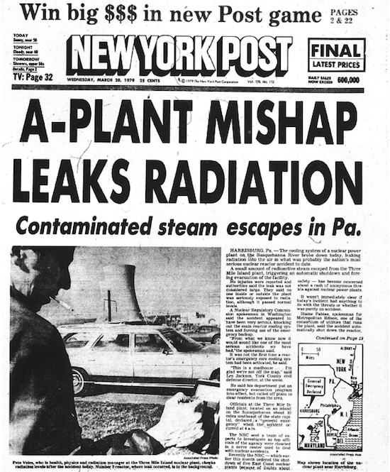 Image result for three mile island nuclear disaster in 1979