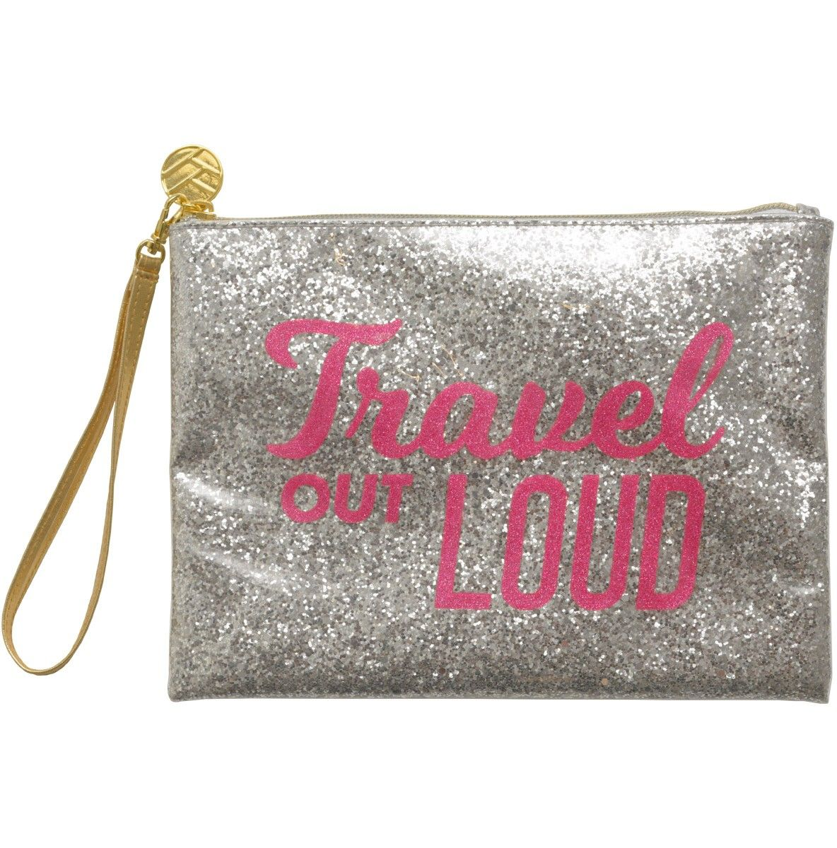 Channel your inner disco queen with one of our all-purpose glitter pouches. It doubles as a clutch so you can dance the night away in style. Also features a convenient wristlet.