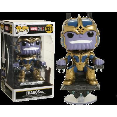 Marvel Studios The First Ten Years Thanos On Throne 8 Inch Deluxe Pop Vinyl Figure Vinyl Figures Funko Pop Funko