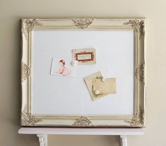 white board framed dry erase board kitchen organizer magnetic bulletin board office shabby chic decor vintage