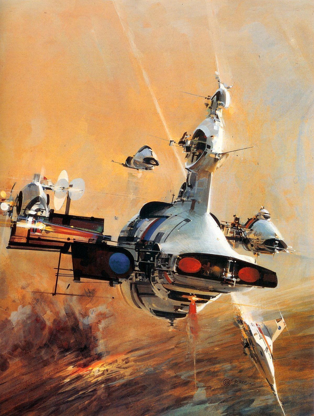 The beautiful space art of John Berkey | Art, Futuristic art