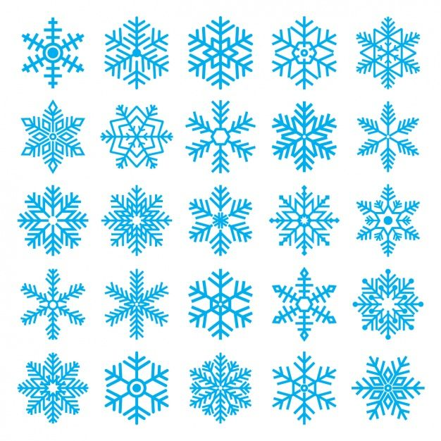 Download Different Snowflakes For Free Flocos De Neve Flocos De