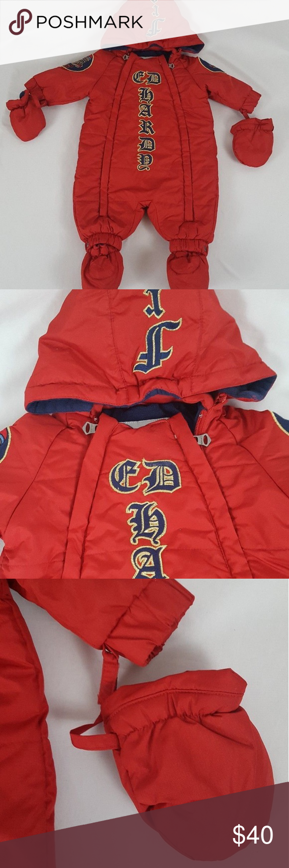 5fcd41505be9 Ed Hardy Christian Audigier Baby Coat Snowsuit Rare Ed Hardy ...