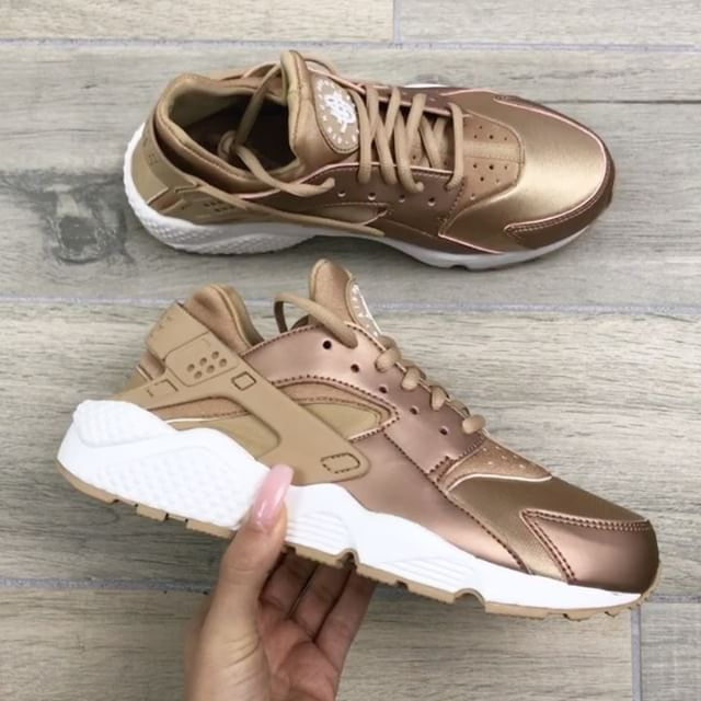 Rose Gold Huarache Sneakers Direct Link To Buy In My Profile
