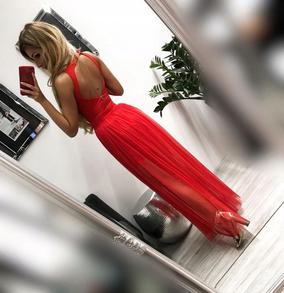 Sukienka Elegancka Dluga 34 Studniowka Wesele 2w1 7823485820 Allegro Pl Formal Dresses Prom Dresses Dresses
