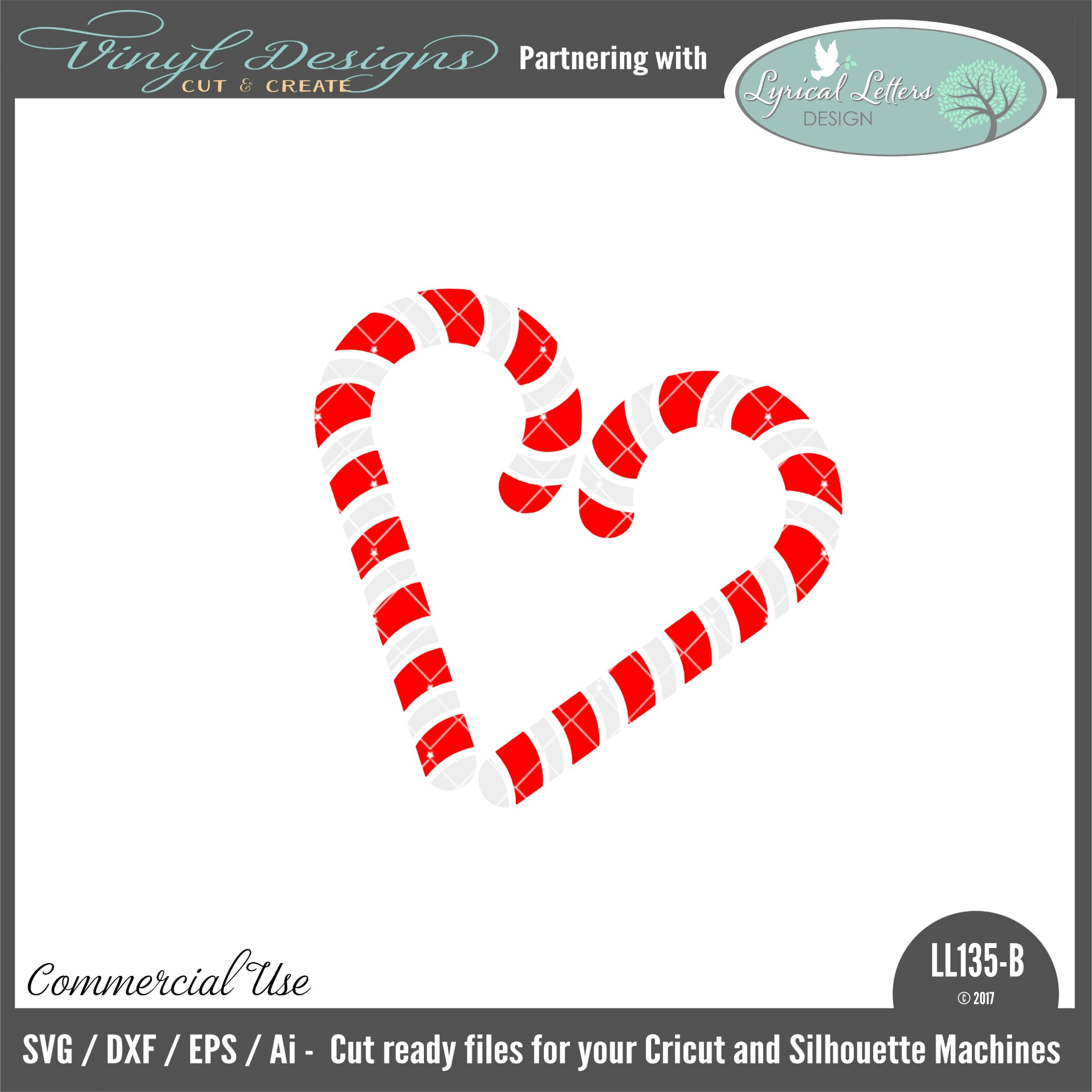 Ll135b Christmas Candy Cane Heart Sold By Lyrical Letters Designsmall Business Commercial Useavailable In S Christmas Candy Cane Christmas Candy Candy Cane