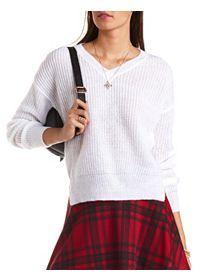 V-Neck Pullover Sweater