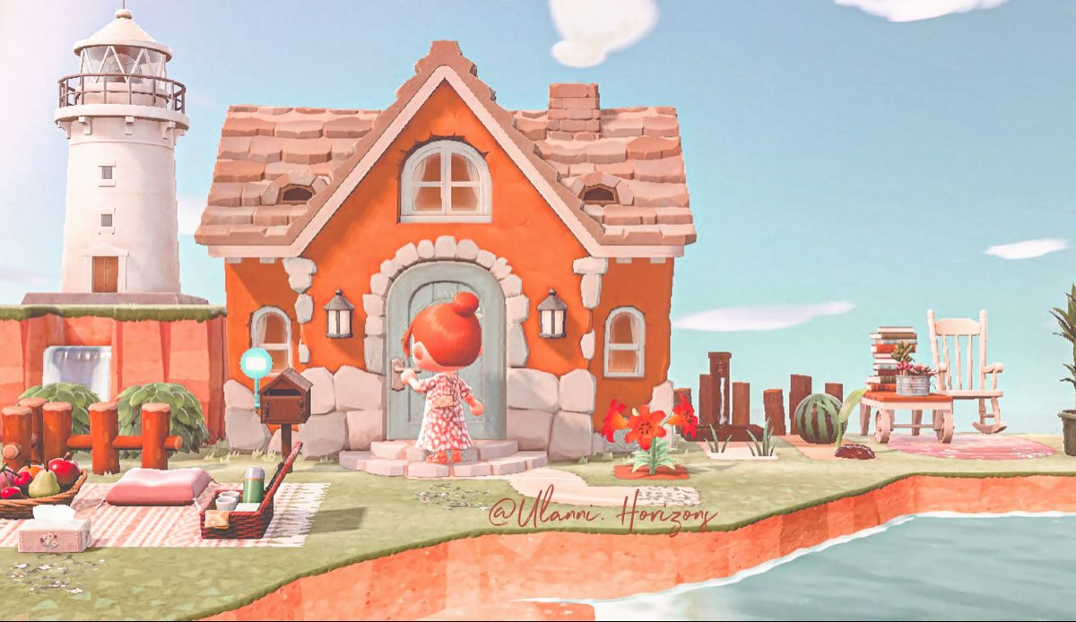 Acnh House Exterior In 2020 House Near The Sea Animal Crossing House Exterior