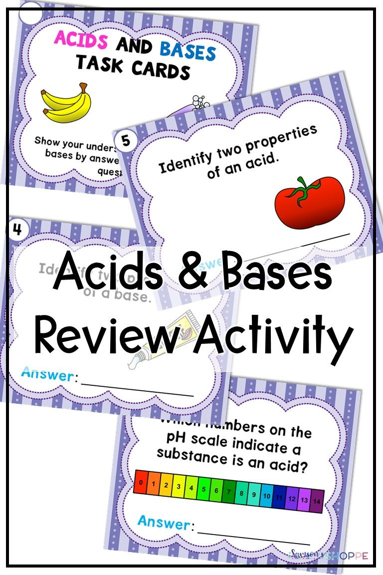 Acids And Bases Review Activity For Distance Learning With Images