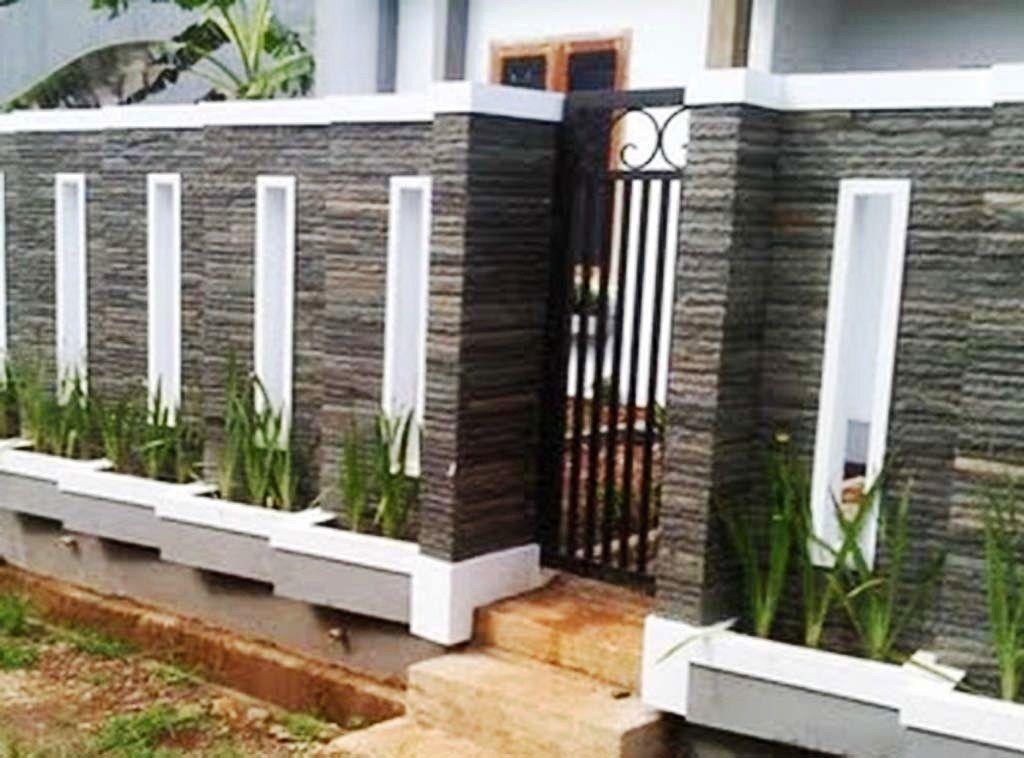 Model Pagar Tembok Minimalis Batu Alam | Desain Eksterior, Desain Eksterior  Rumah, Desain Dinding