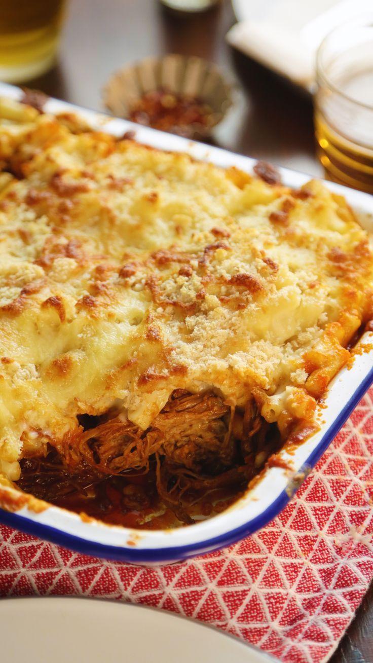 Pulled Pork and Macaroni Pie - _essen - #Essen #Macaroni #Pie #Pork #Pulled