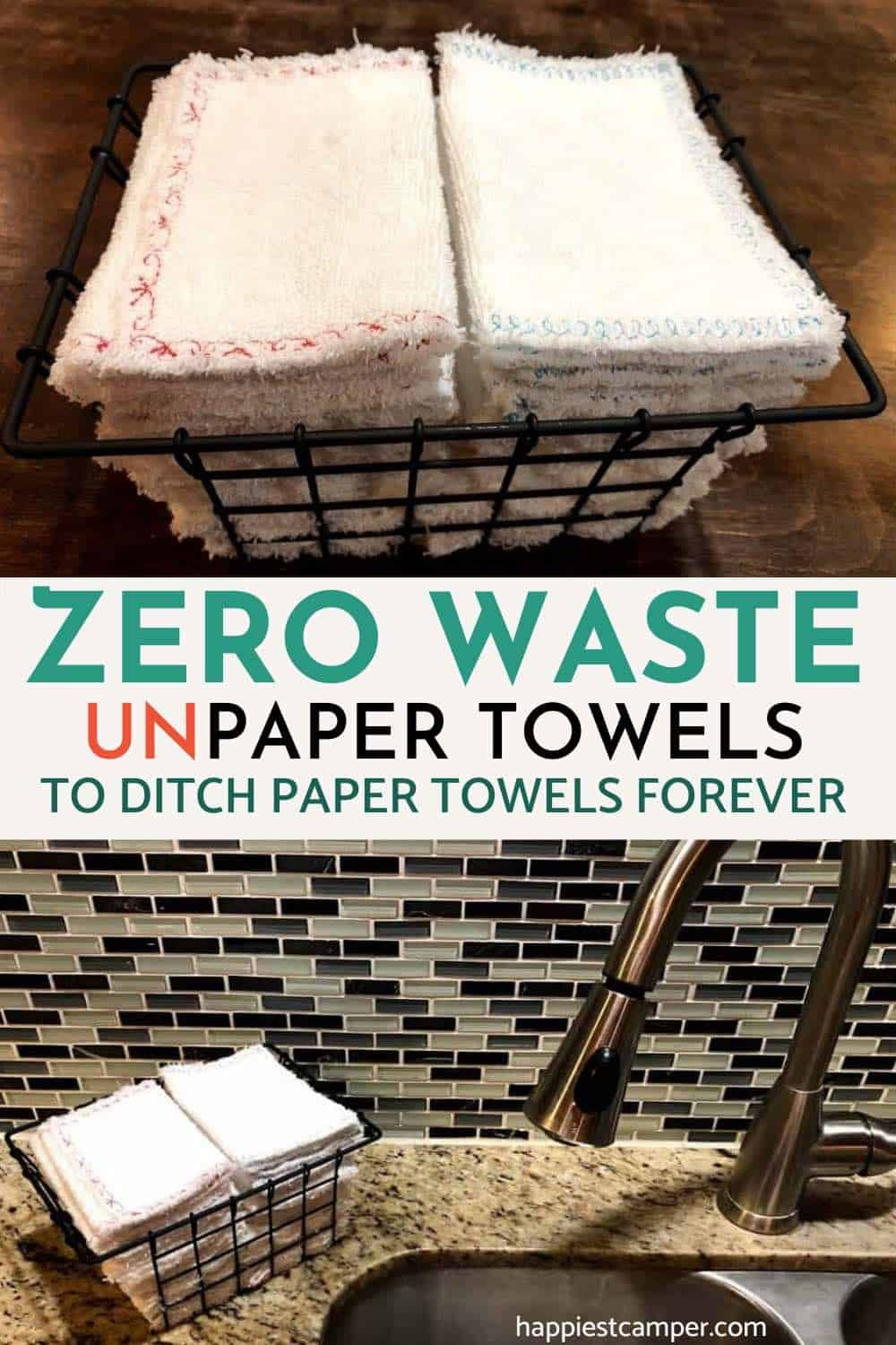 Are you after a more sustainable option to the regular paper towels? This tutorial shows you how to sew zero waste unpaper towels to ditch paper towels forever! Click here to follow this easy sew tutorial. #ZeroWastePaperTowels #EasySewDiyProjects #SustainablePaperTowels