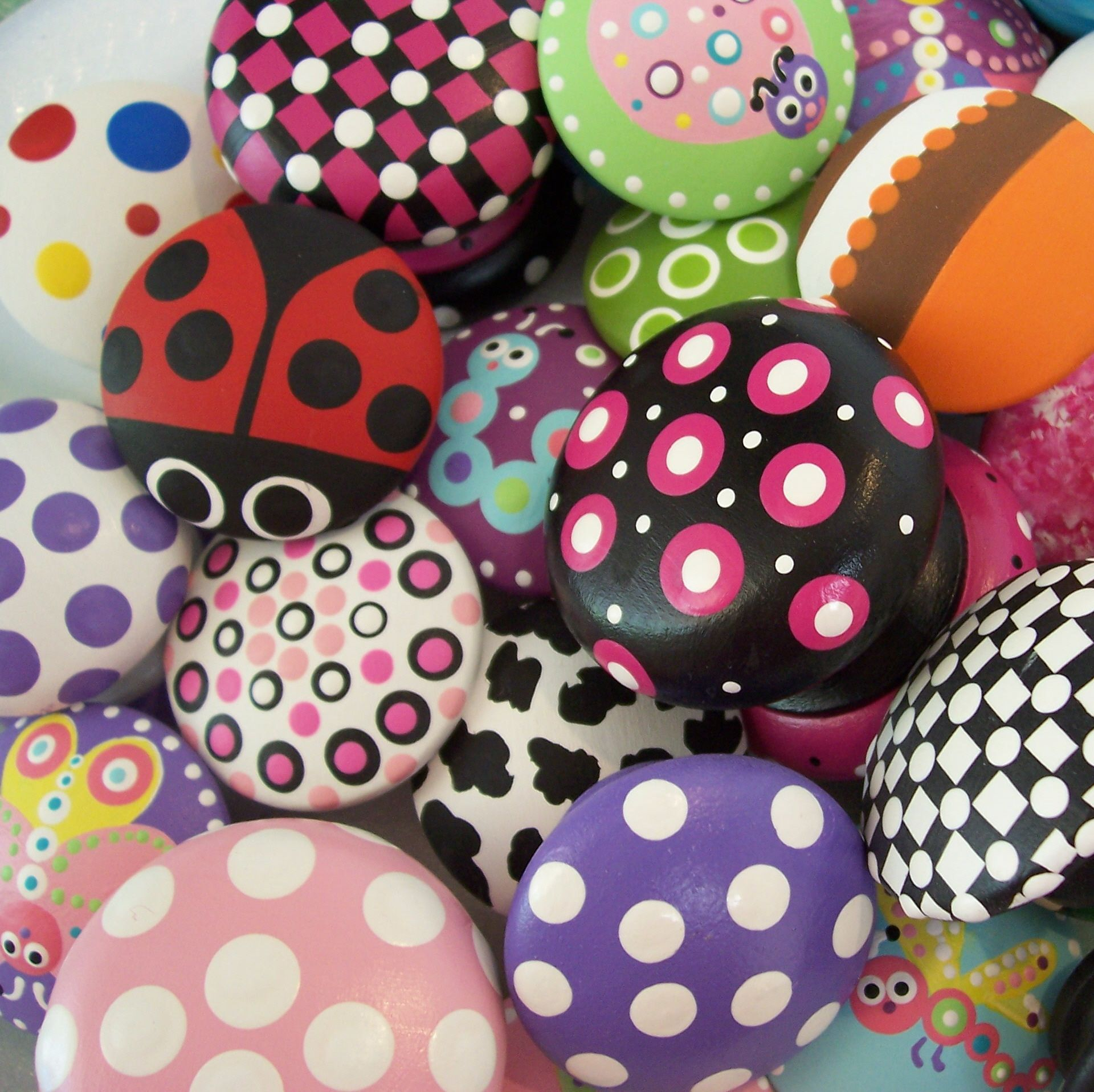 Image result for handpaint drawer handles kids painting