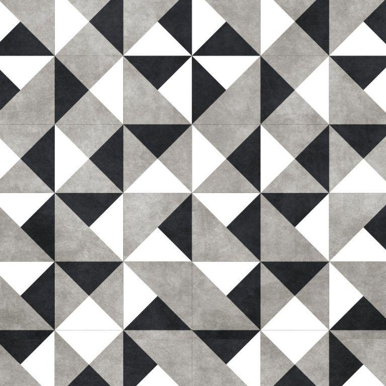 e10fd6c51 Papel de Parede Adesivo Azulejo Preto Branco e Cinza