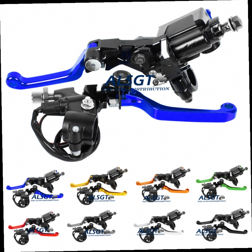 "44.16$  Watch here - http://aliwl4.worldwells.pw/go.php?t=32669943173 - ""Motorcycle 7/8"""" Brake Master Cylinder Pressure Switch Reservoir Levers Dirt Pit Bike Set 8 Colour For Yamaha YZ80/85 2001-2007"""