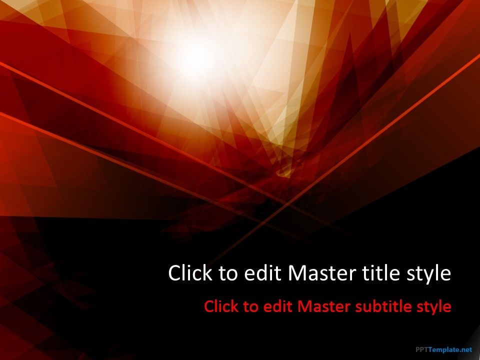Free Dark Red PPT Template | Abstract PPT Templates - PPT ...
