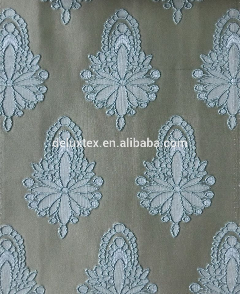 Hot sale polyester blackout curtain fabric jacquard upholstery ...