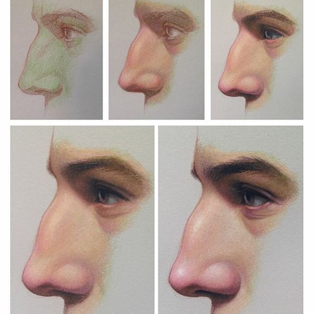 how to draw eyes and nose