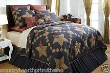 ARLINGTON Queen 4pc Quilt Set Patchwork Rustic Blue/Red Star Primitive Plaid New in Home & Garden, Bedding, Quilts, Bedspreads & Coverlets | eBay