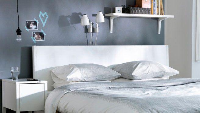 Dress code gris dans la chambre à coucher | Chambre grise, Gris et ...