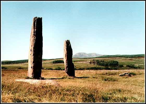 Sandstone pillars on Machrie Moor