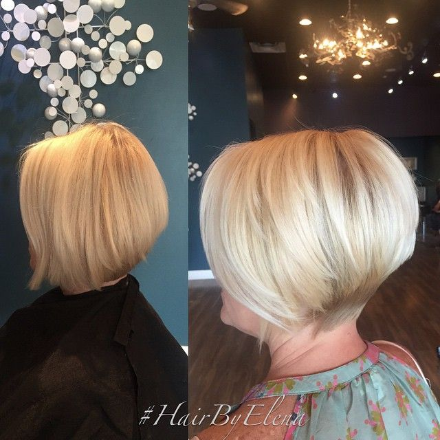 Shorter for summer on this beauty #haircut by @hairbyelena ...