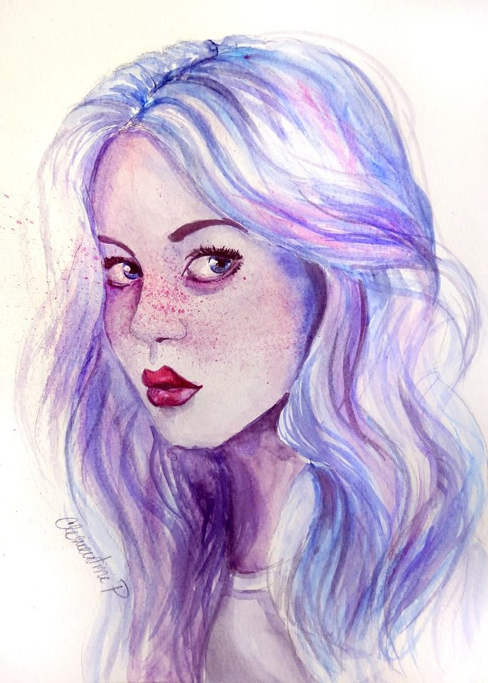 Abstract Watercolors Google Search Face Art Watercolour Hair
