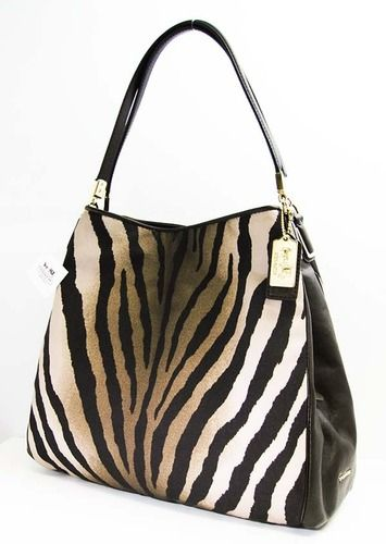 *Luxury*Coach Madison Zebra Print Phoebe Shoulder Bag. Starting at $30