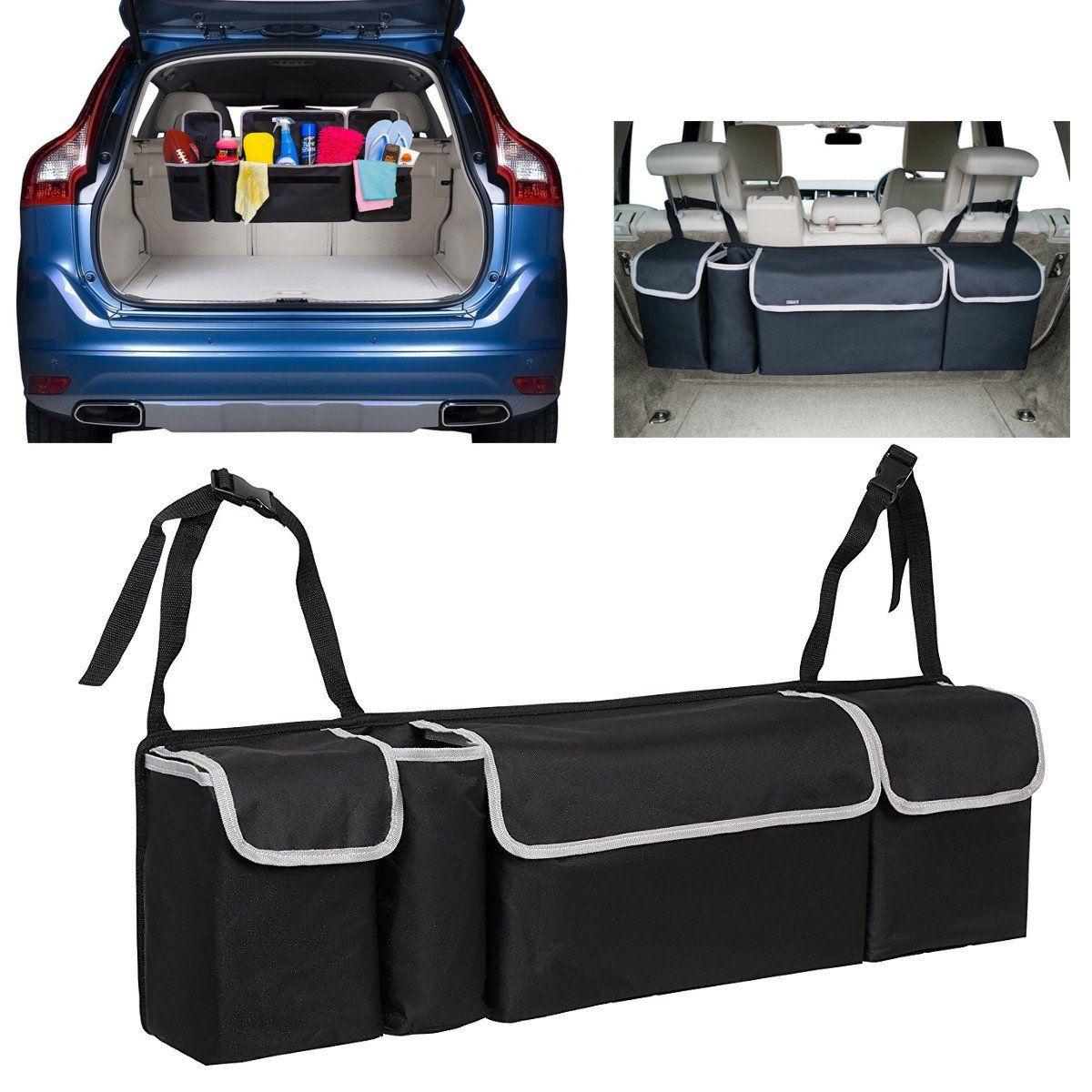 Auto Car Back Seat Multi Pocket Storage Organizer Tissue Holder