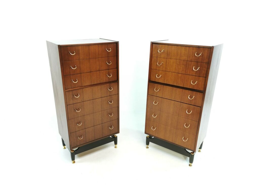G plan tola tall boy chest of drawers 1960s mid century