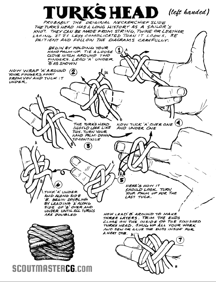 Turks Head Knot Neckerchief Slide Boy Scouts Pinterest