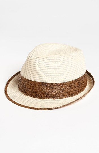 f28228f0 BP. Two Tone Straw Fedora available at Nordstrom   obsession ...