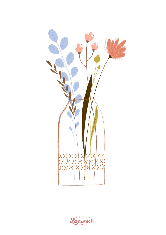 Blumenstrauss Blumen Flowers Hygge Lifestyle Bluemnvase Vase