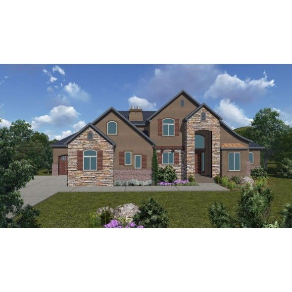 Martigues plan french country 2 story house plan 4 bed for 2 story 3 car garage house plans