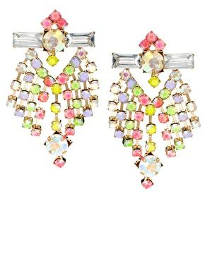 Enlarge ASOS Pastel Chandelier Earrings | me like | Pinterest ...
