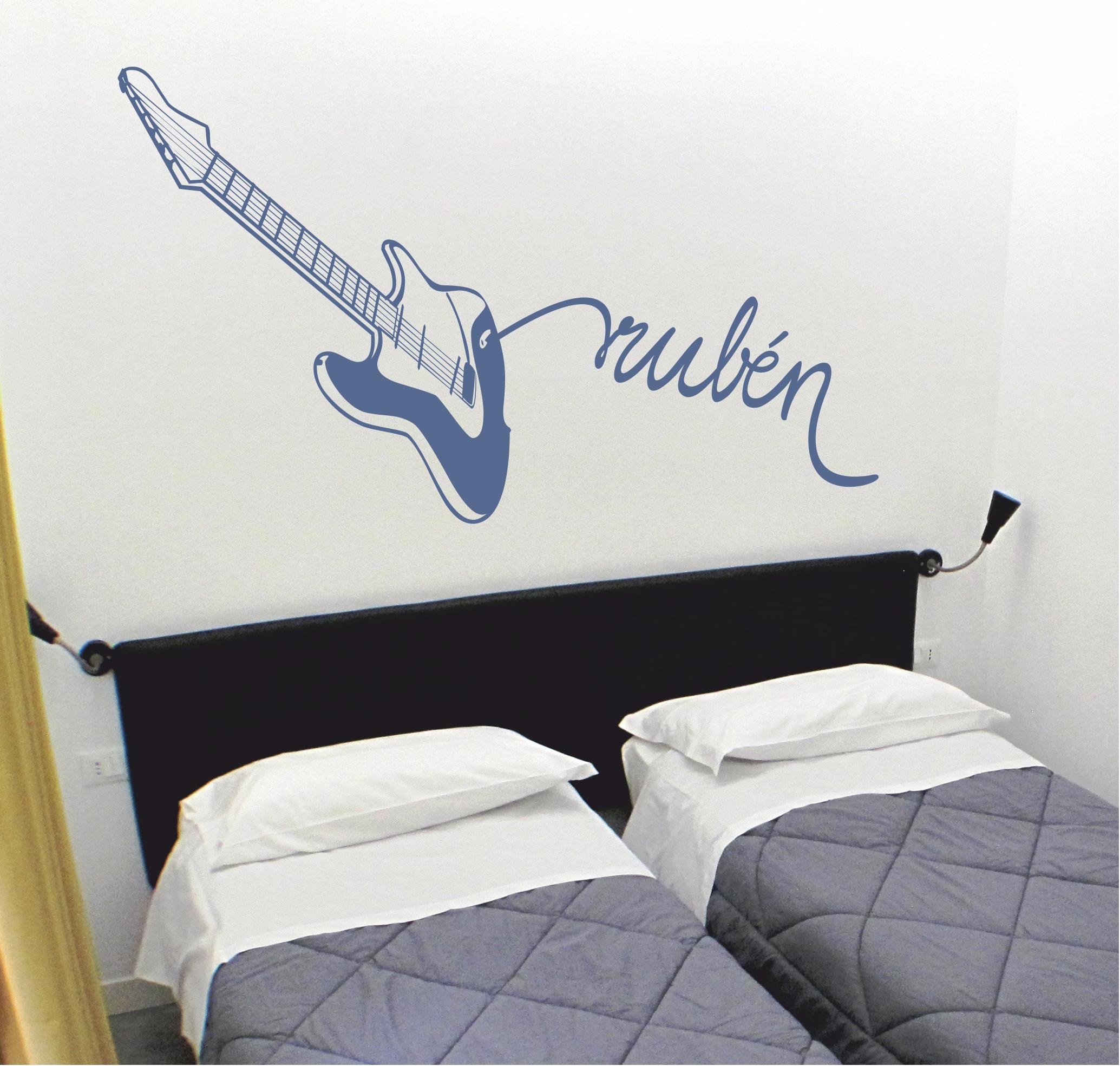 Vinilo decorativo de una guitarra el ctrica personalizada