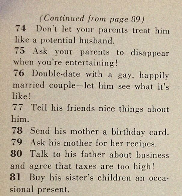 Failed Marriage Proposal Inside A Mall: This '129 Ways To Get A Husband' Article From 1958 Shows