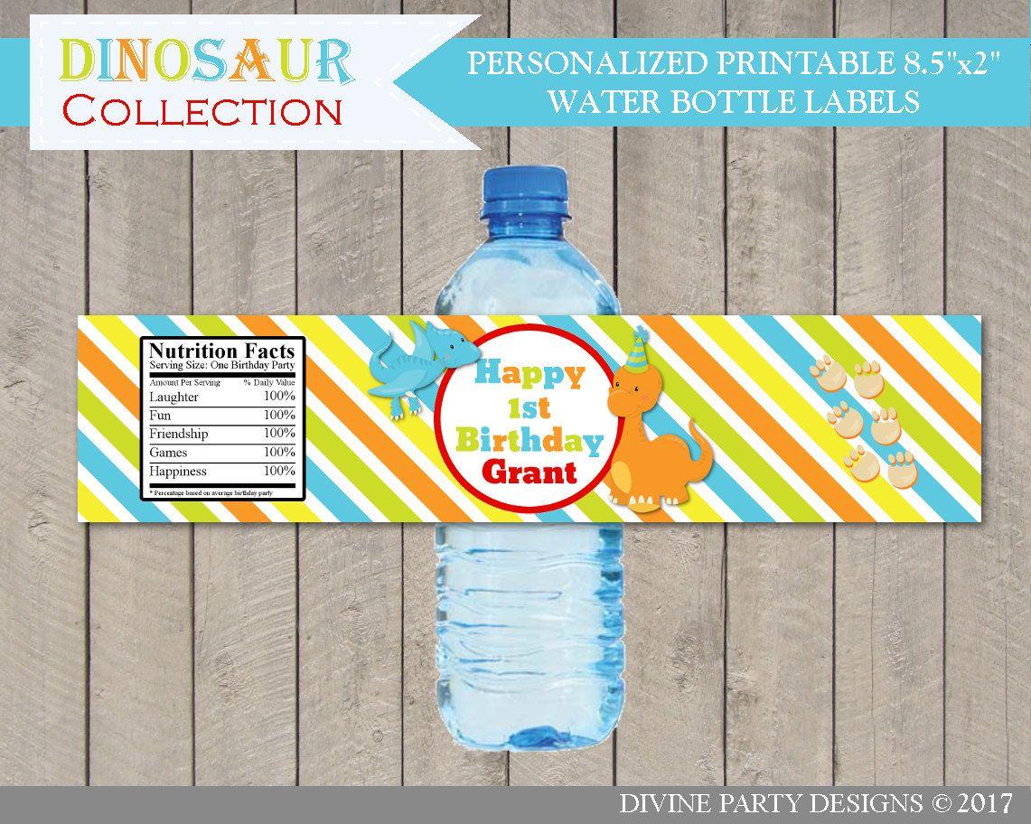 Dinosaur Birthday Party Ideas Personalized Printable Happy Birthday