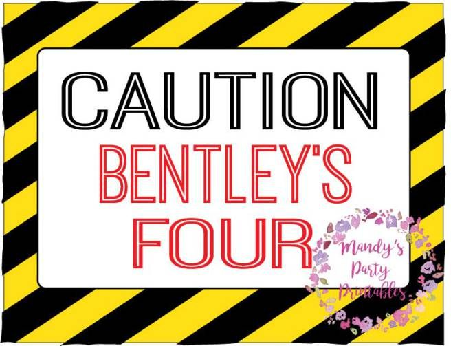 Free Construction Party Printables Construction Birthday