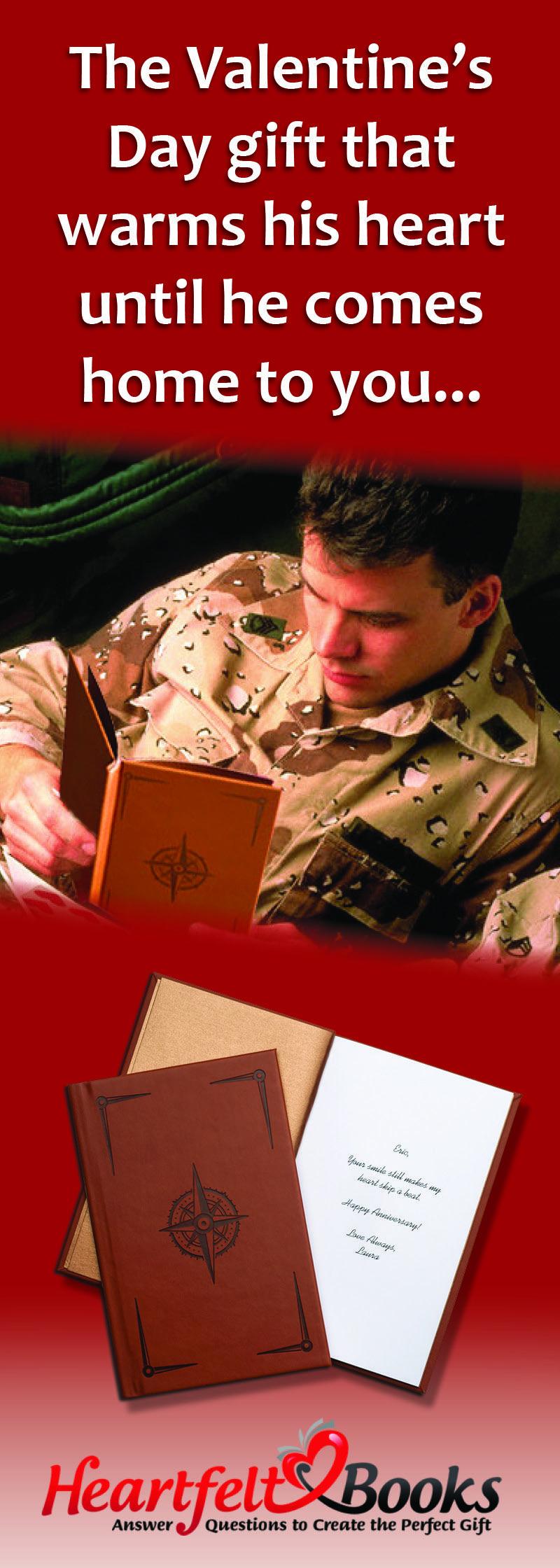Gift For Deployed Husband Or Boyfriend Heartfeltbooks Com Deployed Husband Gifts Heartfelt Books
