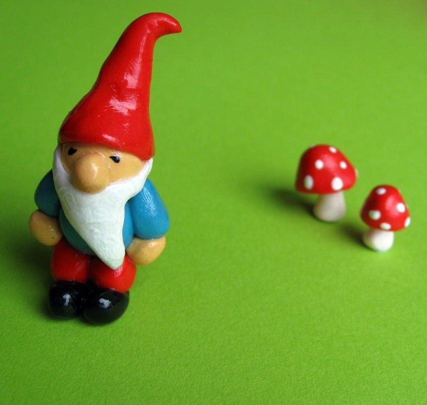 Red And Aqua Teeny Tiny Mini Garden Plant Gnome. $10.00, Via Etsy.