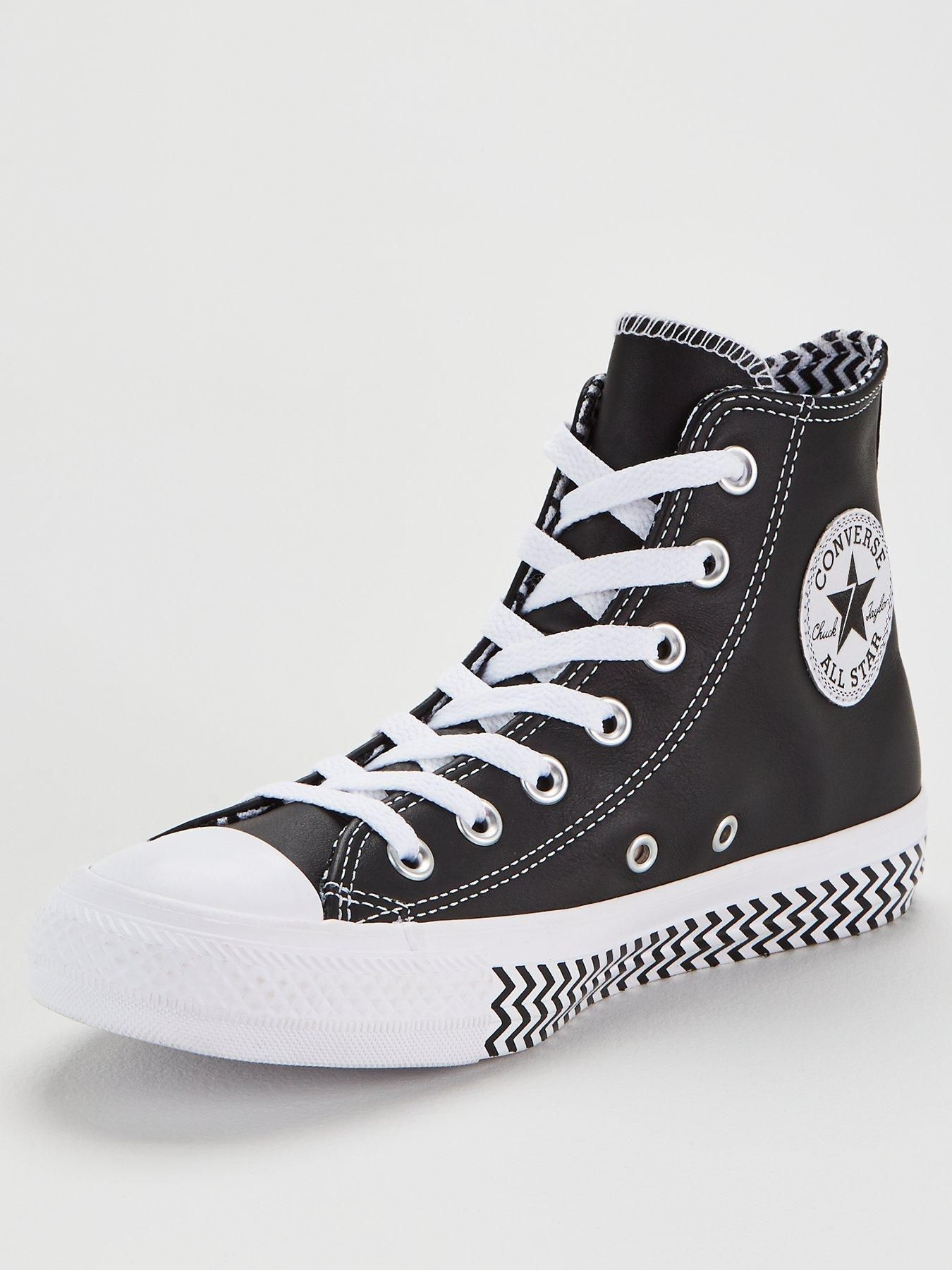 Converse Chuck Taylor All Star Vltg Leather High Top Black