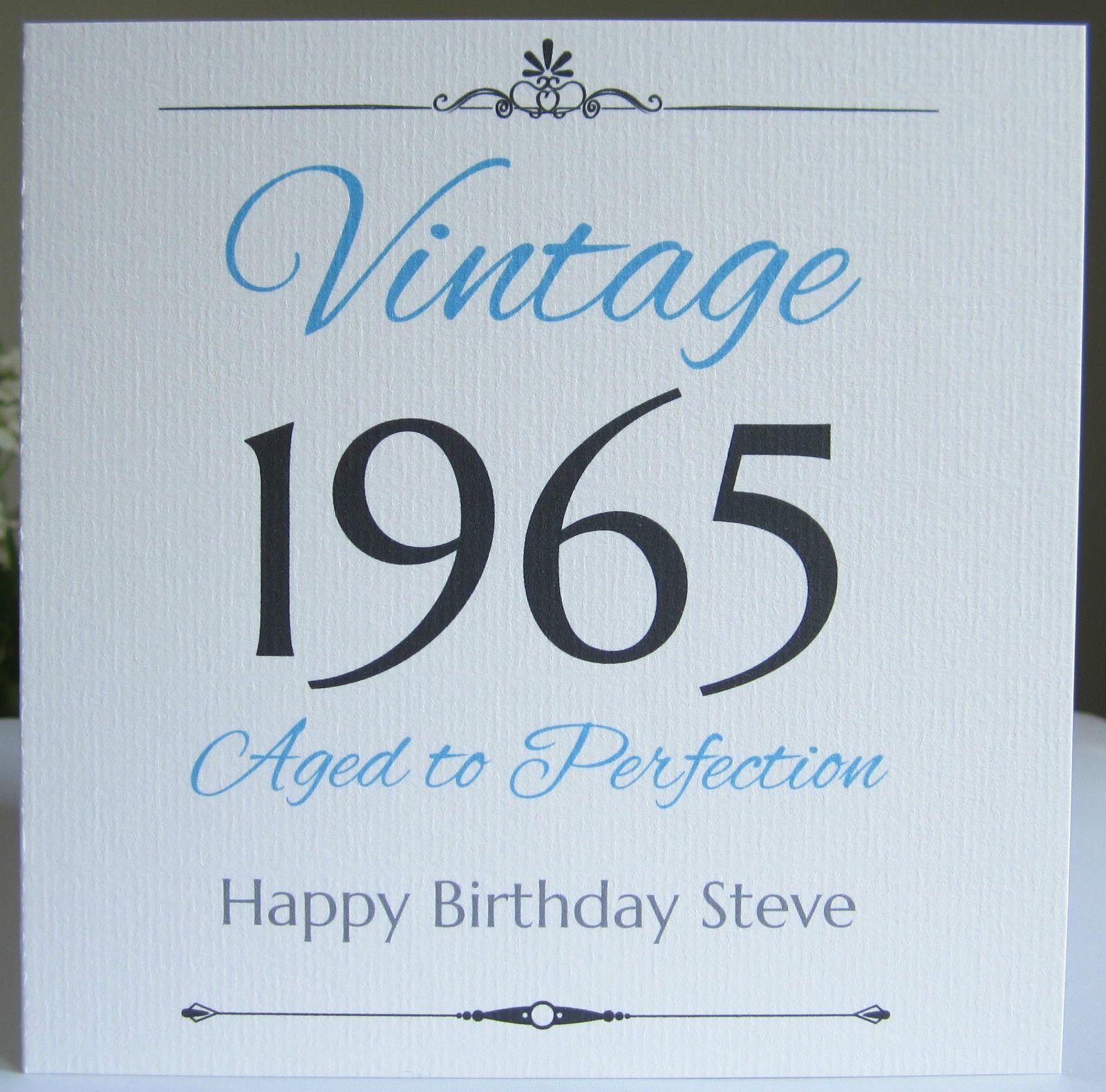Personalised Handmade Birthday Card Male Men 40th 50th 60th 70th 80th Any Year Birthday Cards For Men 50th Birthday Cards Birthday Cards For Him